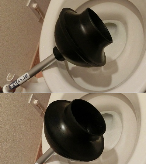 【TOILET plunger 洋式トイレ用 つまりとりS 収納ケース付き】